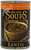 Amy's Light in Sodium Organic Lentil Soup, 14.5-Ounce Cans (Pack of 12)