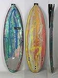 YOJO(ヨジョ)ミニレングス サーフボード [BLUE/GREEN/YELLOW/PINK] 167cm グラフィック MINIボード ショートボード