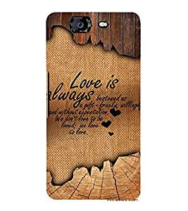 Beautiful Love Quote 3D Hard Polycarbonate Designer Back Case Cover for Micromax Canvas Knight A350