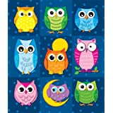 Colorful Owls (stickers) ~ Carson-Dellosa Publishing