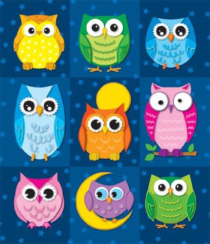 Colorful Owls (stickers) - Carson-Dellosa Publishing
