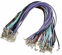Rockin Beads Brand 20 Imitation Leather Cord Braded Necklaces Mix 17\