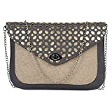 Marigold Bagss Golden Envelope Sling (Grey)