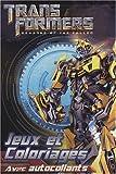 echange, troc Hemma - Jeux et coloriages, avec autocollants : Transformers