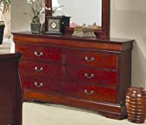 Big Sale Coaster Dresser Louis Philippe Style in Cherry Finish