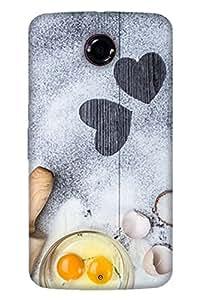 Print Haat Back Cover for Motorola Nexus 6 (Multi-Color)