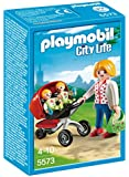 Playmobil 5573 City Life Preschool Mother with Twin Stroller