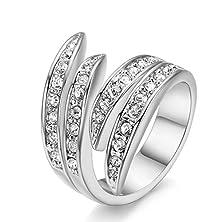 buy Bbx Jewelry Platinum Plating Womens Tri Tone Multi-Strand Ring