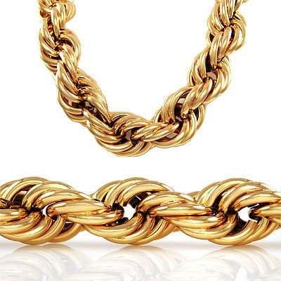 30 inch 20mm GOLD STYLE THICK ROPE RUN DMC DOOKIE