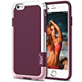 iPhone 6s plus Case,[5.5inch]by Ailun,Soft TPU Bumper& Solid PC Frame,Slip-Proof Back,Shock-Absorption&Anti-Scratches,Fingerprints&Oil Stains, Protective Back Cover [Purple]