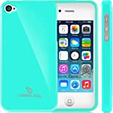Caseology Apple iPhone 4 / 4S [Retro Flex Series] - Slim Fit TPU Protector Shock Absorbent Bumper Case (Turquoise / Mint) [Made in Korea] (for Verizon, AT&T Sprint, T-mobile, Unlocked)