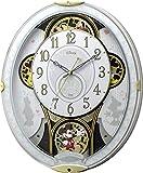 リズム時計 Disney 電波 からくり キャラクター 掛け時計 ミッキー & フレンズ M509 ホワイト 4MN509MC03