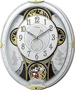 Disney(リズム時計) ミッキー&フレンズM509 (電波からくり時計) 白色 4MN509MC03