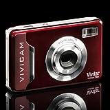 New Cranberry Vivitar Vivicam 7020 Digital Camera