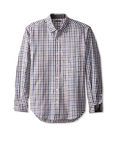 J. McLaughlin Men's Gingham Gramercy Regular Fit Shirt