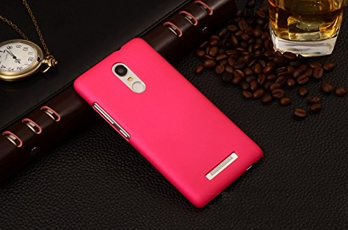 super popular 00f49 bfc51 WOW Imagine™ Rubberised Matte Hard Case Back Cover For XIAOMI MI REDMI NOTE  3 - Pink