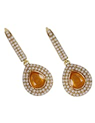 Traditional Muchmore Unique Fashion Occasion Wear Gold Tone Polki Earrings Jewelry For Women