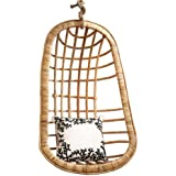 Two's Company Hanging Rattan Chair
