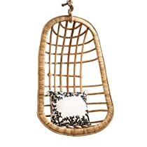 Twos Company Hanging Rattan Chair