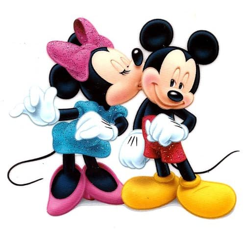 Amazon.com: Minnie Mouse kissing Mickey Mouse Disney Iron On Transfer