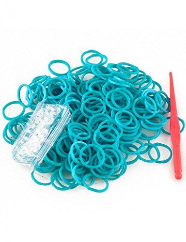 Pfauenblau Loom Bands Bandz Gummibänder DIY Armbänder Starterset mit Clips LM0001-11