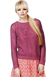 Angel Pure Cotton Open Knit Jumper