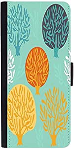 Snoogg Seamless Pattern With Leafdesigner Protective Flip Case Cover For Sams...