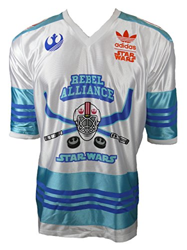 Adidas-Originals-Star-Wars-Luke-Skywalker-Maillot-de-hockey-sur-glace-en-jersey-Taille-L
