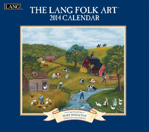 Lang Folk Art Calendar : Lang perfect timing folk art wall