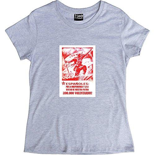 espanoles-por-la-independencia-y-la-libertad-de-nuestre-patria-ash-womens-t-shirt-size-10-m