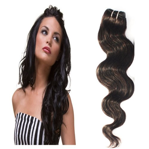 Yesurprise Top Quality 100G Indian Remy Body Wave Curly Real Human Weave Weft Hair Extensions 28""