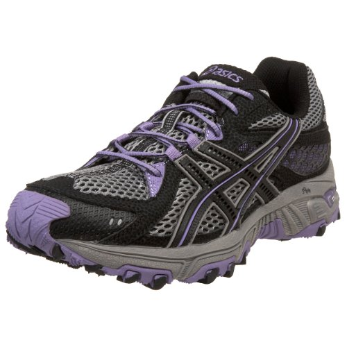 ASICS Women's GEL-Trabuco 13 Running Shoe,Platinum/Black/Violet,6 M US