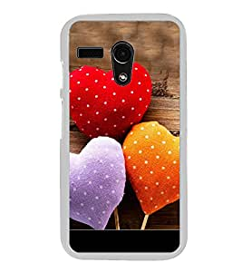 Love Hearts 2D Hard Polycarbonate Designer Back Case Cover for Motorola Moto G :: Motorola Moto G (1St Gen)