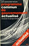 Programme commun de gouvernement actu...