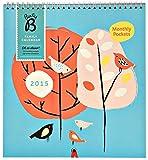Busy B 2015 Calendrier familial pour 5 personnes Poches de rangement Motif arbres...