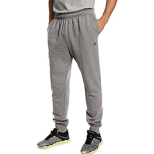 Champion Men's Powerblend Retro Fleece Jogger Pant_Oxford Grey_M