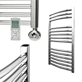 Chrome Remote Controlled Towel Rails - Thermostatic Electric -