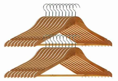 Premier Housewares Wooden Clothes Hangers, Set of 20