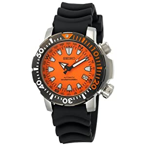 Click to buy Seiko Watches for Men: SNM037 Automatic Dive Black Urethane Strap Watch from Amazon!