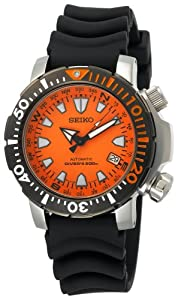 Seiko Men's SNM037 Automatic Dive Black Urethane Strap Watch