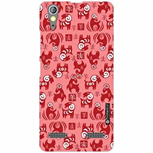 Lenovo A6000 Back Cover - Silicon Pink Designer Cases