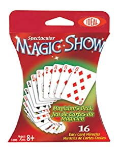 POOF-Slinky - Ideal Spectacular Magic Show 16-Trick Magician's Deck of Cards, 0C1141
