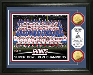 NFL New York Giants New York Giants Super Bowl XLVI Champs Team Gold Coin Photo Mint by Highland Mint