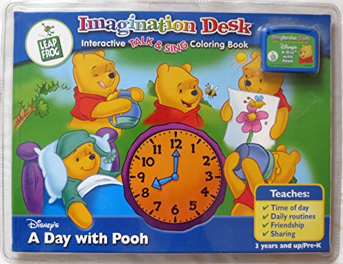 Leap Frog Imagination Desk Interactive Color-and-Learn Book and Cartridge: Disney's A Day With Pooh (Life Lessons, Lesson 1)