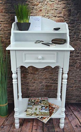 Beistelltisch-Tisch-Stehpult-Sekretr-Ablage-Konsolentisch-Flurtisch-Wei-SP60