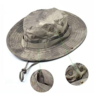 Bluecell Tactical Head Wear/Boonie Hat Cap For Wargame,Sports,Fishing &Outdoor Activties (Acu Camouflage)