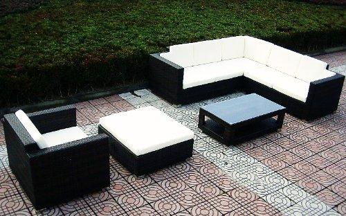 Baidani Designer Lounge-Wohnlandschaft Sunset, 20-teilig, schwarz