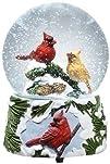 5.5 Musical Cardinal Bird Christmas Snow Globe Glitterdome