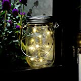 Mason Jar Lights, iThird 3 Pack 10 LED Warm White Solar Fairy Lights Lids Insert for Garden Deck Patio Party Wedding Christmas Decorative Lighting(Jars Not Included)