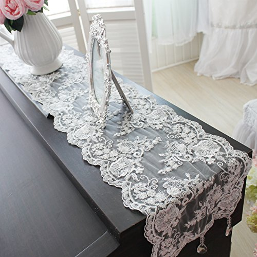Luxury Table Runner White Lace
